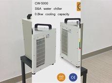 Чиллер CW-5000 S&A охлаждает станок для ультрафиолетового маркера.mp4